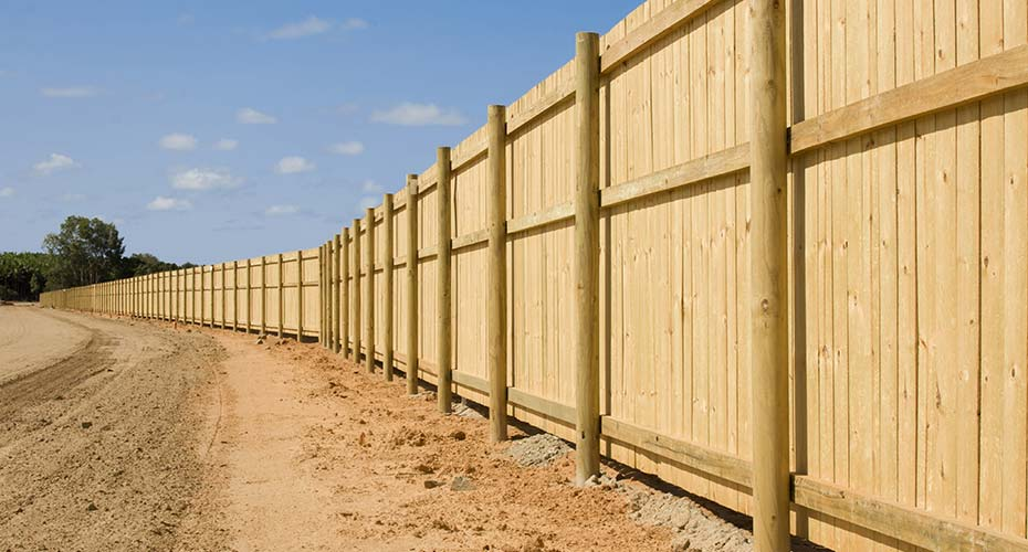 Stylish Wood Fencing