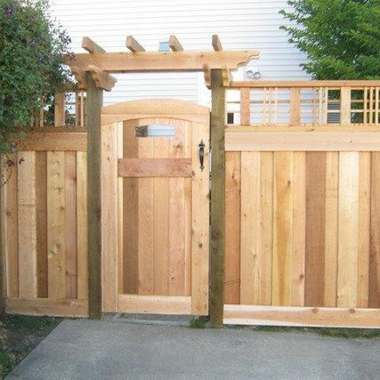 Wood fence & gate